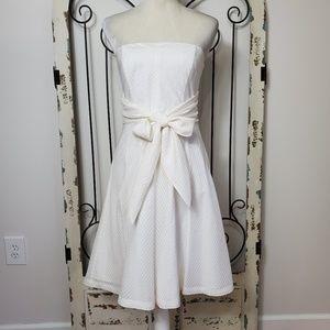 White House Black market strapless dress size 4
